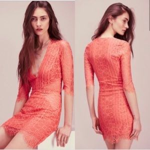 For Love and Lemons XS Coral dress NWT.